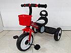 Детский трехколесный велосипед с задней фарой и мелодиями, фото 4