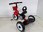 Детский трехколесный велосипед с задней фарой и мелодиями, фото 5