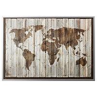 Картина с рамой Бьёркста карта мира 200x140 см