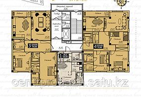 3 комнатная квартира в ЖК  Liberty  (Либерти)  123.69 м²