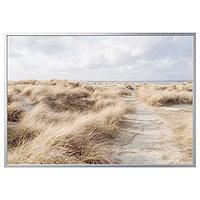 Картина с рамой БЬЁРКСТА Песчаные дюны 200x140 см ИКЕА
