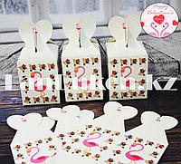 Подарочная упаковка Flamingo подарочная коробка Бонбоньерка картонная