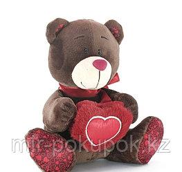 """Мягкая игрушка мишка с сердцем """"Гарри"""" 22 см"""