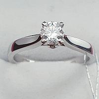 Сертификат GIA 0.35Сt SI2/F EX-Cut Золотое 585 пр. кольцо с Бриллиантом, фото 1