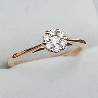 Золотое кольцо с Бриллиантами VS1/G 0,20Ct, 750 проба, фото 1