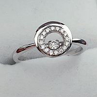 Золотое кольцо с Бриллиантами VS1/G 0,15Ct, 750 проба, фото 1