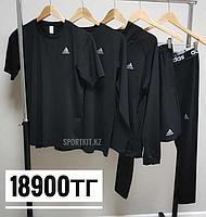 Рашгард 5в1 черный Adidas, фото 1