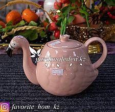 """Чайник заварочный """"Фламинго"""". Материал: Керамика. Цвет: Розовый."""