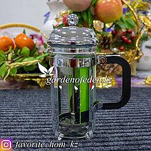 Чайник заварочный, с пресс-фильтром и ложечкой. Материал: Стекло/Металл. Цвет: Прозрачный. Объем: 350мл.