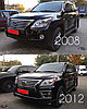 Комплект рестайлинга (переделка) на Lexus LX570 2007-2011 под 2012-2015 F sport, фото 4