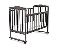 Детская кроватка СКВ Митенька 2 венге (колесо + качалка)
