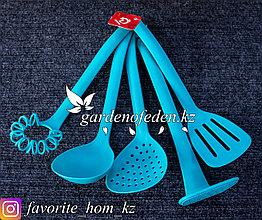 """Набор кухонных принадлежностей """"Доляна"""". Материал: Пластик. Цвет: Голубой. Набор: 5шт."""