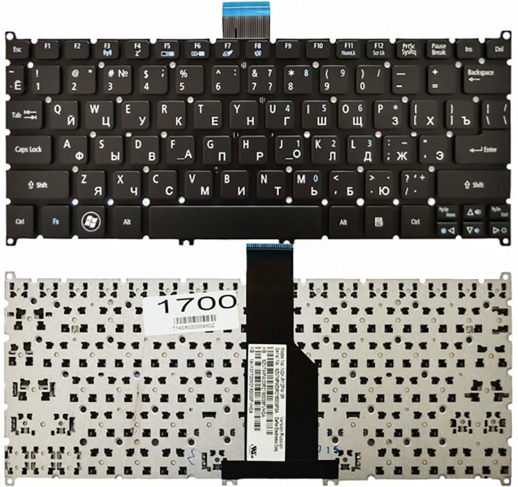 Клавиатура для ноутбука Acer Aspire S3 (черная, RU)