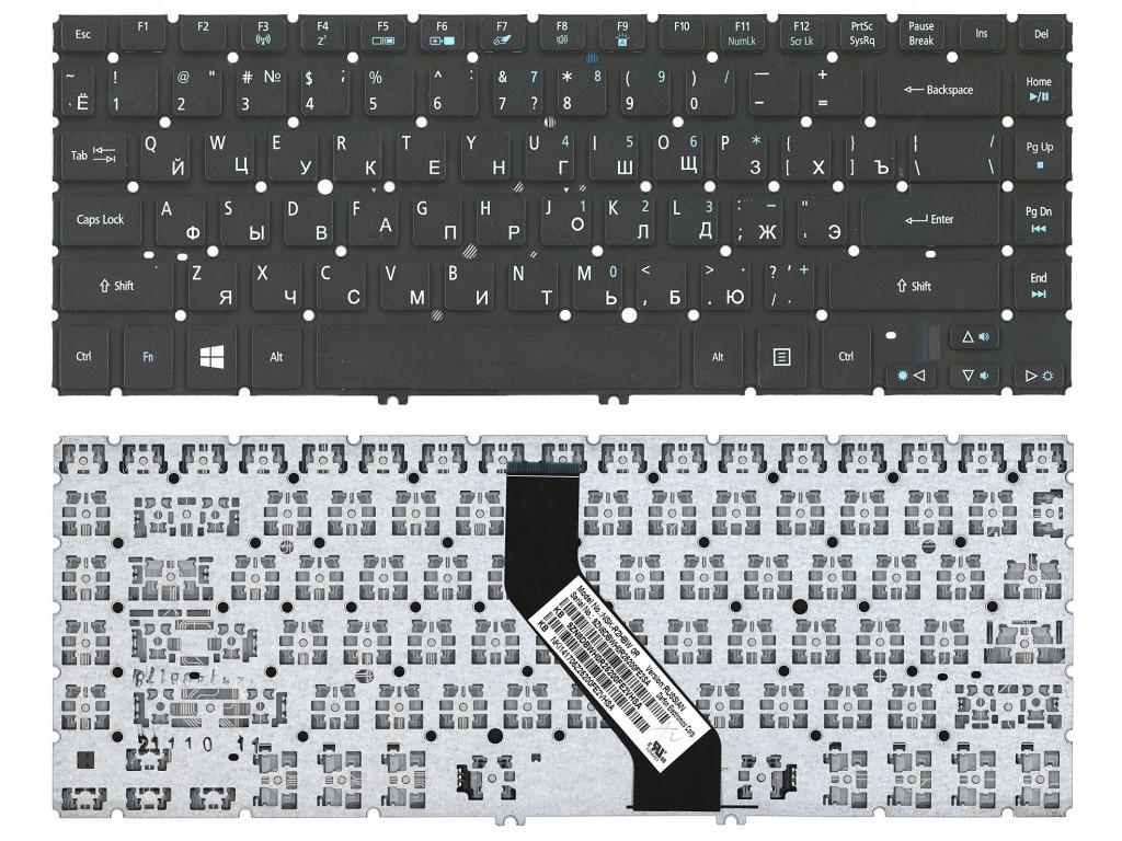 Клавиатура для ноутбука Acer Aspire V5-431 (черная с подсветкой, RU)