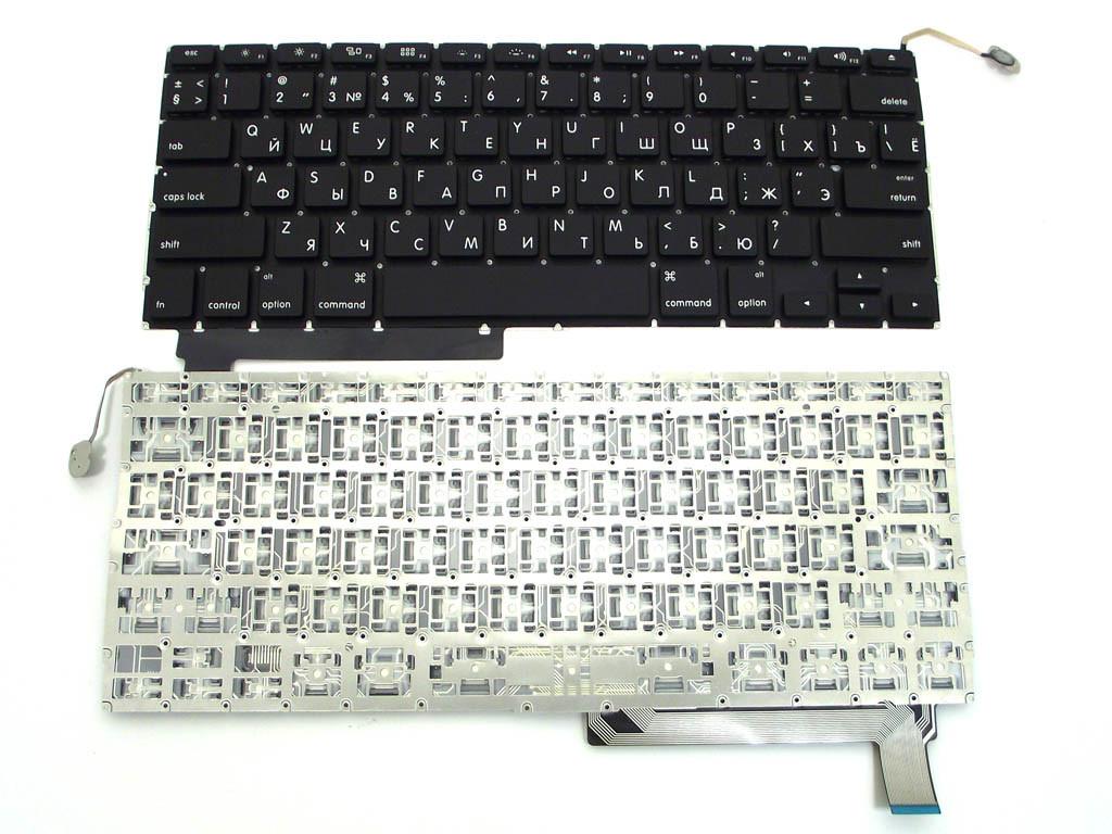 Клавиатура для ноутбука Apple MacBook PRO A1297 (черная с подсветкой, RU)