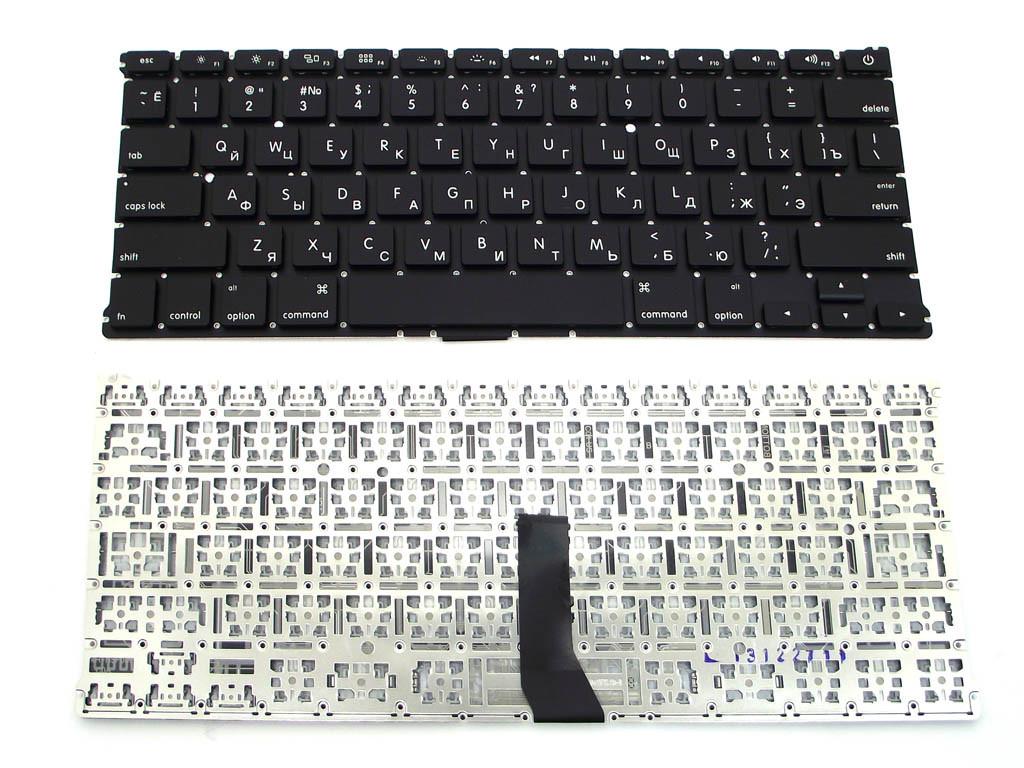 Клавиатура для ноутбука Apple MacBook Air A1369 (черная с подсветкой, RU)