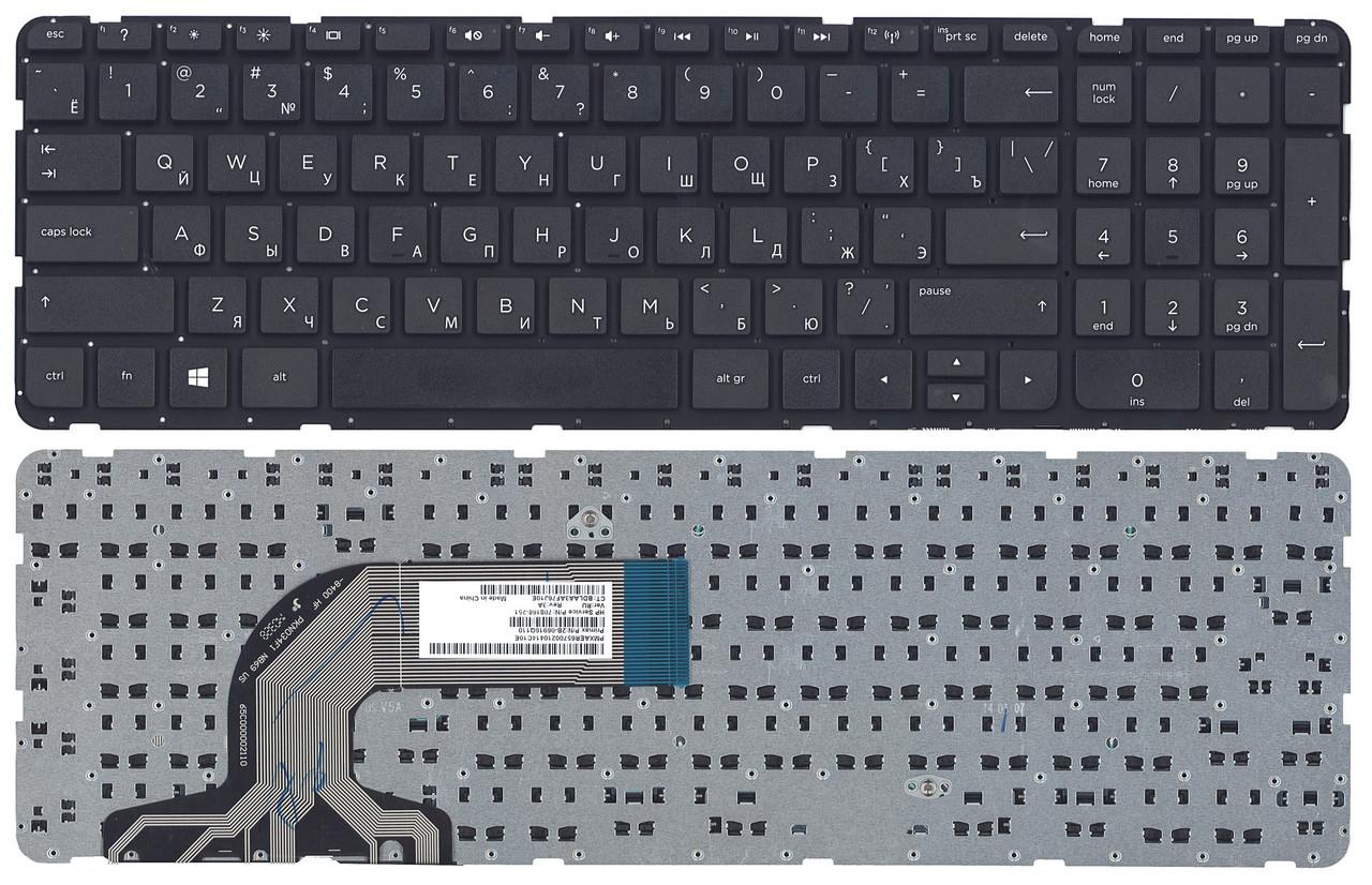 Клавиатура для ноутбука HP Pavilion 15-e series (черная, RU)