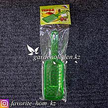 Пластиковая терка для детского питания, с контейнером. Материал: Пластик. Цвет: Зеленый-Полупрозрачный.