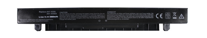 Аккумулятор PowerPlant для ноутбуков Asus X450 (A41-X550, AS-X550-4) 14.4V 2600 mAh