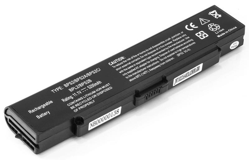 Аккумулятор PowerPlant для ноутбуков SONY VAIO PCG-6C1N (VGP-BPS2, SY5651LH) 11.1V 5200mAh