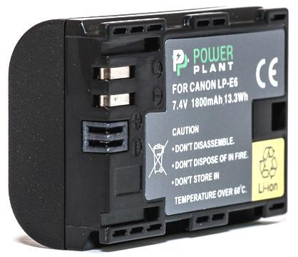 Аккумулятор PowerPlant Canon LP-E6 Chip 1800mAh