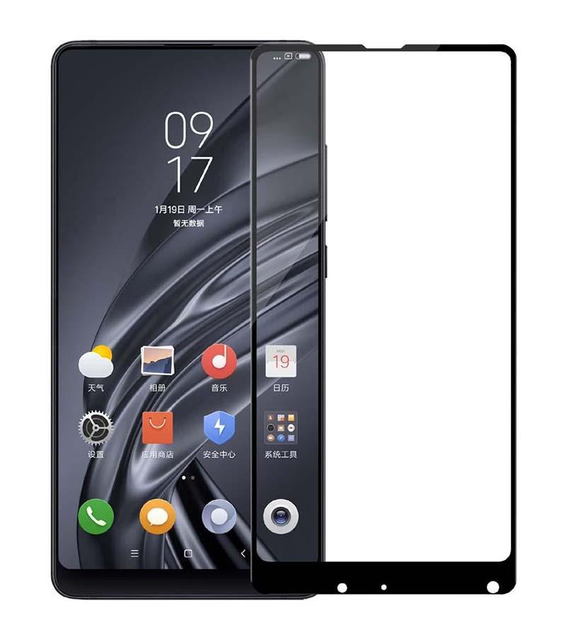 Защитное стекло Full screen PowerPlant для Xiaomi Mi Mix 2, Black