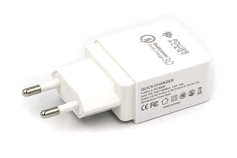 Зарядное устройство PowerPlant Qualcomm Quick Charge 3.0