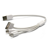 Kабель PowerPlant универсальный USB 2.0 AM - Mini, Micro, Lightning, I-Pod, 0.3м