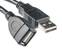 Кабель PowerPlant USB 2.0 AF – AM, 5м, Double ferrites
