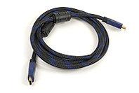 Видeo кабель PowerPlant HDMI - HDMI, 2м, позолоченные коннекторы, 1.4V, Nylon, Double ferrites