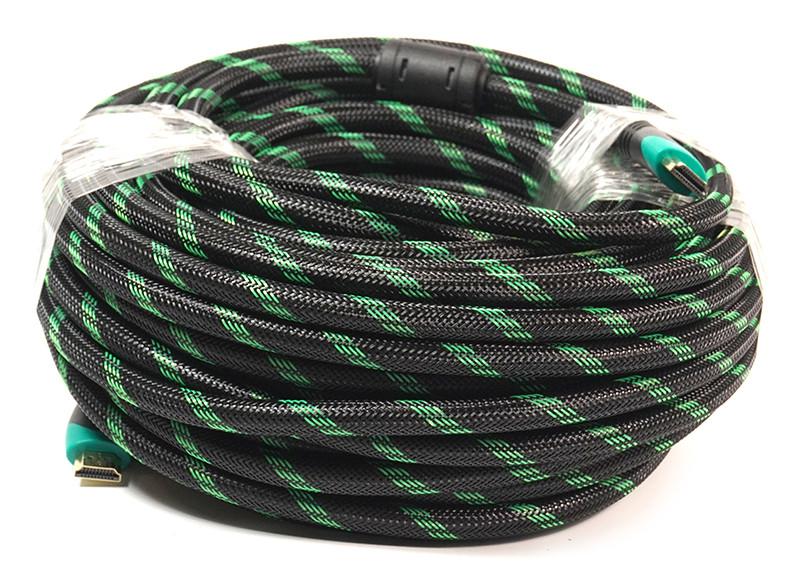 Видeo кабель PowerPlant HDMI - HDMI, 25m, позолоченные коннекторы, 2.0V, Double ferrites, Highspeed