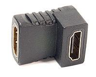 Переходник PowerPlant HDMI AF - HDMI AF, угловой