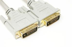 Видео кабель PowerPlantDVI-D 24M-24M, 1.5m, Double ferrites