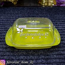 Масленка малая. Материал: Пластик. Цвет: Желтый/Полупрозрачный.
