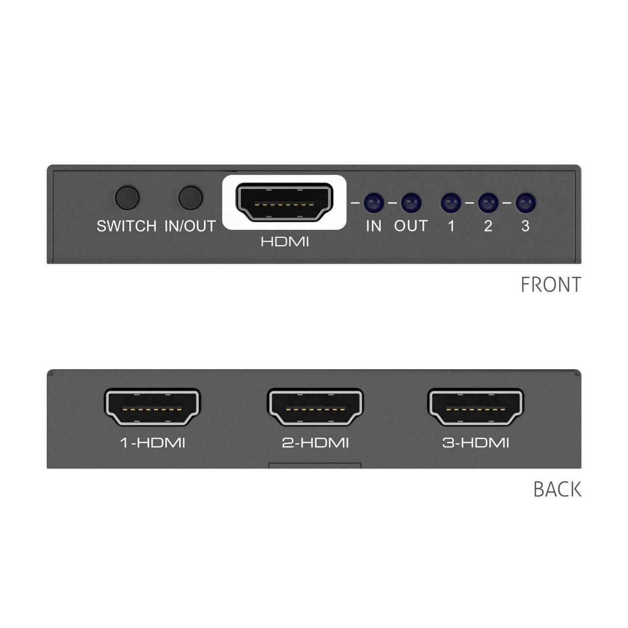 Коммутатор-распределитель PureLink PT-SW-HD3 (HDMI 1x3 / 3x1), 4K(60Hz 4:4:4)