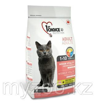 1st Choice VITALITY Indoor (Фест Чойс) корм для кошек живущих дома 5,44 кг