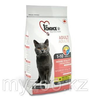 1st Choice VITALITY Indoor (Фест Чойс) корм для кошек живущих дома 10 кг