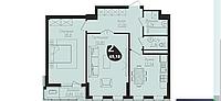 2 комнатная квартира в ЖК Асем Тас 2 69.18 м², фото 1