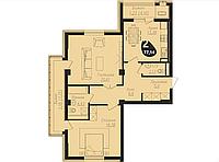 2 комнатная квартира в ЖК Асем Тас 2 77.14 м², фото 1
