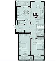 3 комнатная квартира в ЖК Асем Тас 2 98.04 м², фото 1
