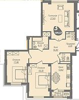 3 комнатная квартира в ЖК Асем Тас 2 109.57 м²