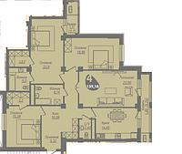 4 комнатная квартира в ЖК Асем Тас 2 139.18 м², фото 1