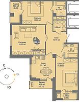 3 комнатная квартира в ЖК Асем Тас 2 105.91 м²