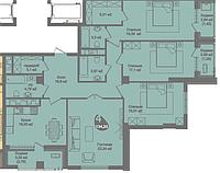 4 комнатная квартира в ЖК Асем Тас 2 134.35 м², фото 1