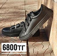 Кеды черные на липучках Adidas, фото 1