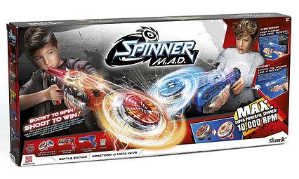 Боевой набор 2 Бластера (синий и красный) SPINNER M.A.D.
