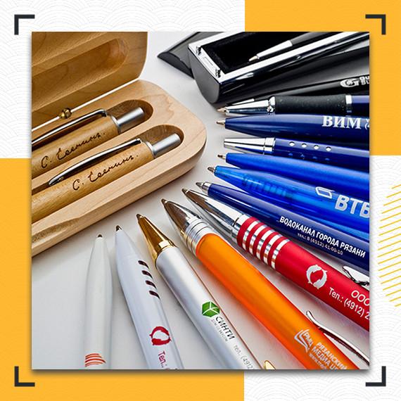 Нанесение логотипа на ручки