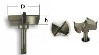 Фреза Форстнера Глобус D=35,l=12,d=8mm stopper арт.1011 D35 огр.