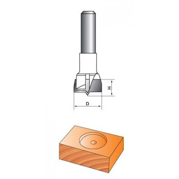 Фреза Форстнера Глобус D=40,l=18,d=8mm арт.1011 D40