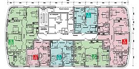2 комнатная квартира в ЖК Олимпийский 68.68 м²